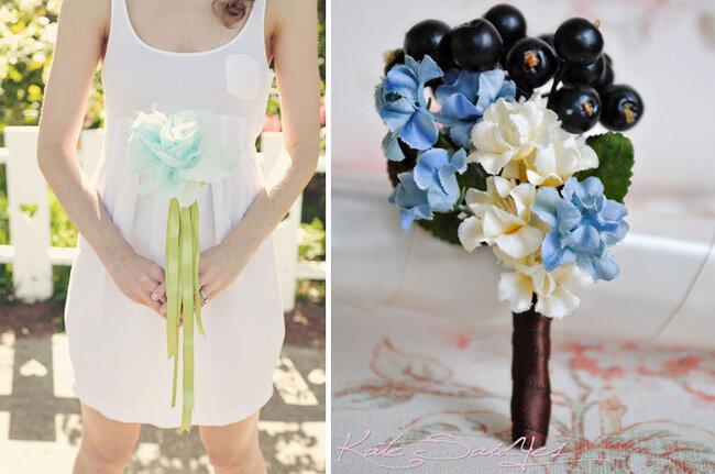 Complementos para novia en azul cielo -
