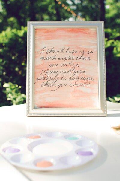 Coloca mensajes con románticos mensajes y fondos de acuarela - Foto Amy Nicole Photography