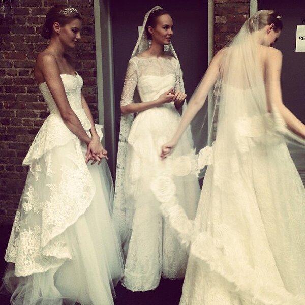 Backstage del desfile de vestidos de novia 2014