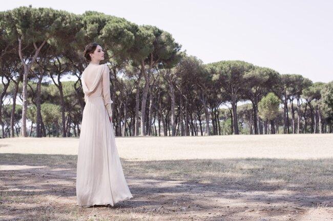 Suknia ślubna 2013 z kolekcji  Royaye Sefid, projekt:  Leila Hafzis