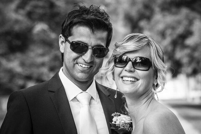 Coole Hochzeits-Portraits