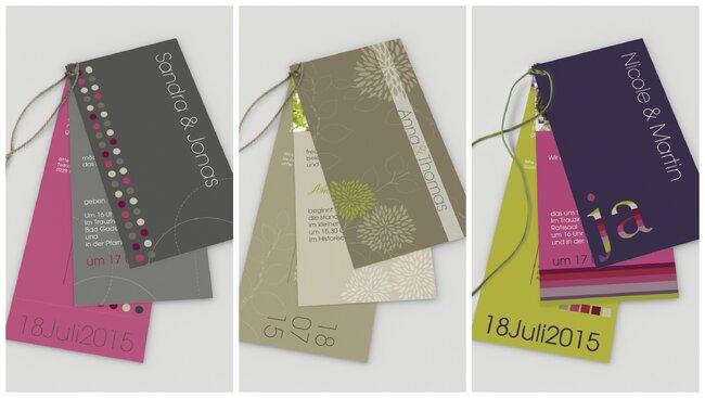 Kreativ und ausgefallen. Foto: www.kreative-hochzeitseinladungen.com