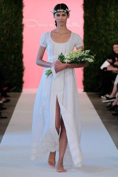 Foto: Colecção de Primavera de 2015 de Óscar de la Renta na NY Bridal Week