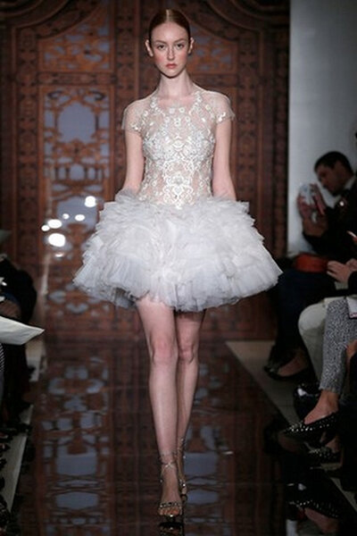 Reem Acra Fall 2013 Bridal Collection. Foto: www.reemacra.com