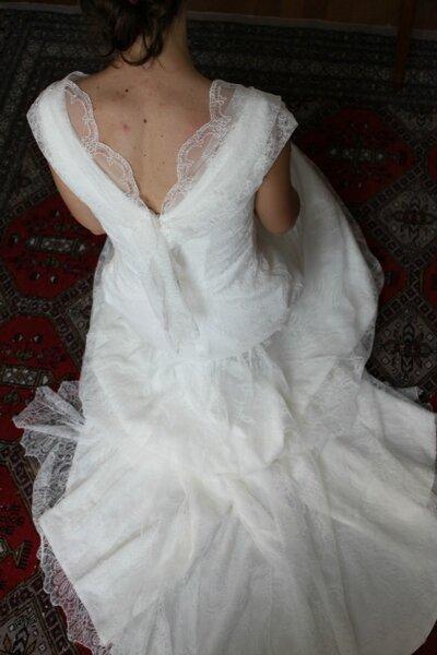 Robe de mariée sur mesure par Pascale de Lavernette