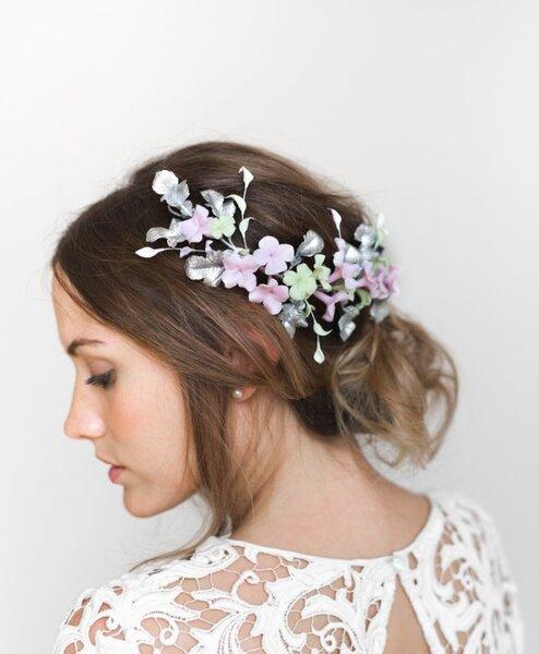 Accesorios de pelo para novias de invierno.