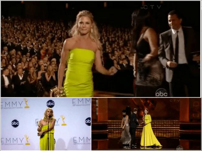 Vestidos de colores amarillo cítrico usados por las celebridades en diferentes premiaciones