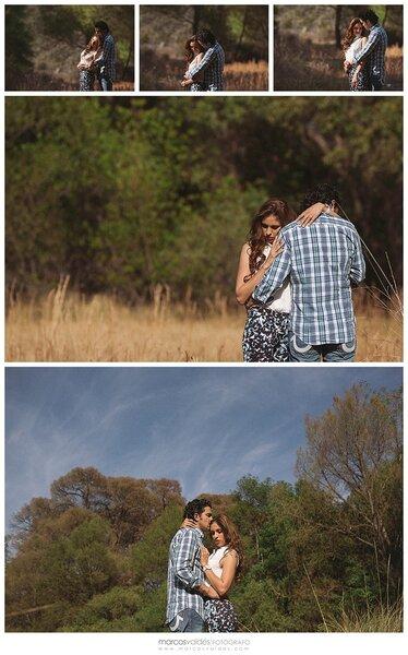 Una mágica sesión de fotos pre boda en un campo encantador - Foto Marcos Valdés