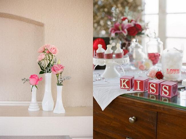 Detalhes cor de rosa na mesa do seu casamento. Foto: Alea Lovely