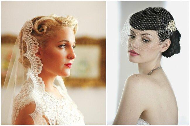 Unas novias muy Pin Up: cejas delineadadas, pestañas ultralargas y labios rojos o rosas