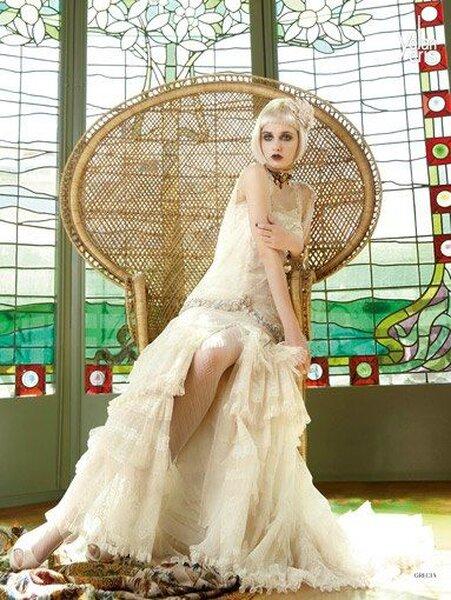 Robe de mariée vintage - Photo: Yolan Cris.