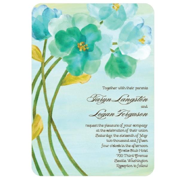 Invitacion con fondos de flores mejor conjunto de frases