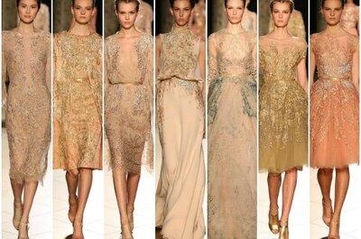 Elie Saab apresenta um vestido de noiva na semana de moda de Paris