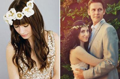 Con una corona di fiori tra i capelli sarai una sposa perfetta!