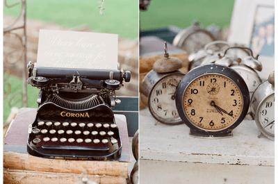 Increíbles ideas en decoración para una boda vintage muy trendy