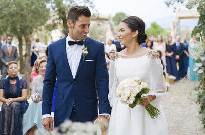 Una terraza como comienzo de su bonita historia: la boda Elena y Daniel