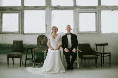 Wspaniała studyjna sesja ślubna. Zapraszamy!