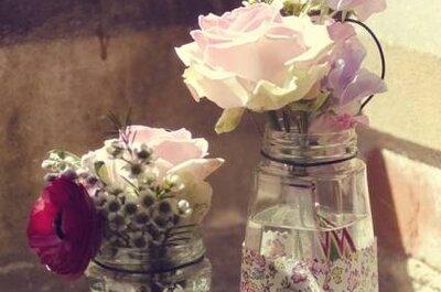 Reciclá: Centros de mesa con aires vintage