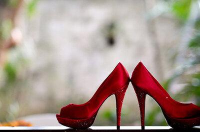 Sapatos vermelhos para noivas: brilho, modernidade e estilo