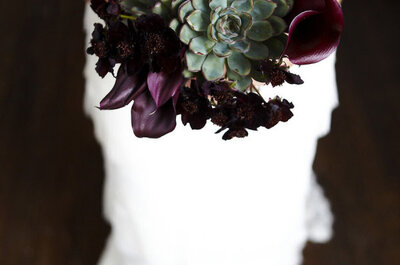 Fall bouquets: Earthy tones + fruits = the perfect combination!
