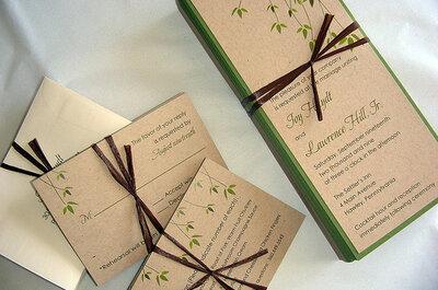 2 Eco-Friendly Wedding Invitation Ideas