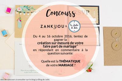 Jeu-Concours : gagnez la création sur mesure de votre faire-part par Le Studio de Julie !
