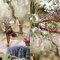 Texturas de madera y troncos para decorar tu boda en el bosque - Foto: Danielle Capito