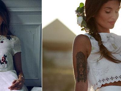 Vestidos de novia crop top: La tendencia favorita de las millennials