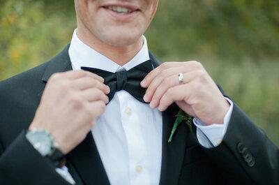 Los novios más elegantes con pajarita
