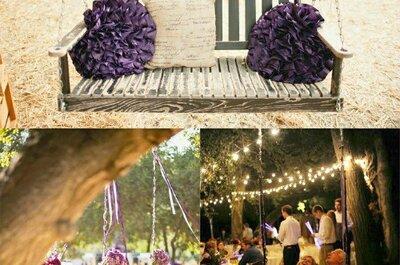 Ideias para decorar balanços para o seu casamento!