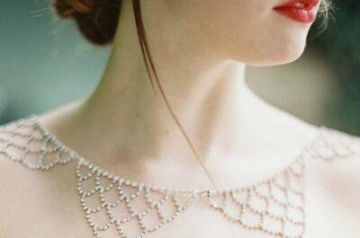 Opções belíssimas de joias para seu look de noiva