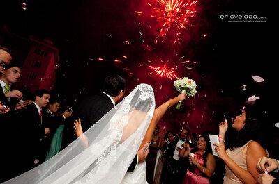 Consejos para incluir fuegos artificiales en la fiesta de tu boda