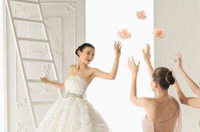 Kobiece i romantyczne suknie ślubne Aire Barcelona 2013