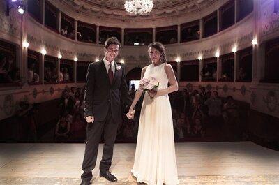 Il 'Wedding Show' di Giulia e Pippo, un matrimonio a teatro