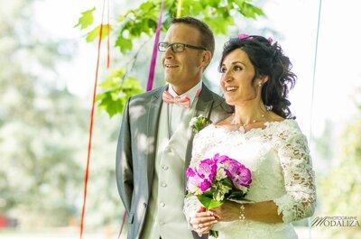 Carole + Jéremy : Un mariage fun dans un château multicolore !