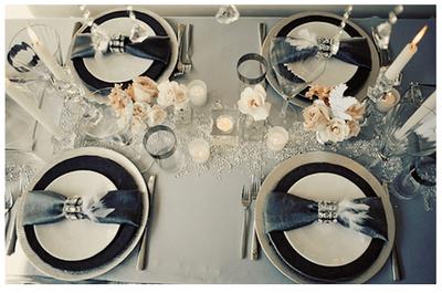 Una boda con detalles en color negro