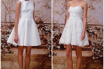 La selezione dei più begli abiti da sposa corti per il 2014