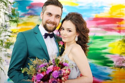 Яркая и креативная свадебная съемка