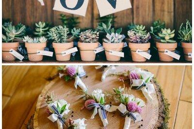 Rustikale Hochzeitsdekoration