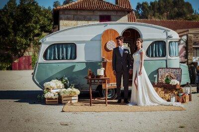 Combinação de look de noiva e noivo perfeitos para casamento campestre!