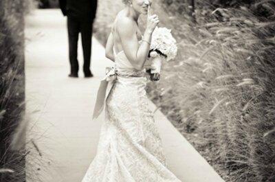 Veja cliques únicos e emocionantes das reações dos noivos!