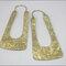 Aretes largos para novia hechos a mano en color dorado y garigoleos