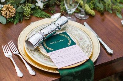 Comment décorer une table de mariage en hiver