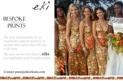Bespoke Bridal Prints for bridesmaid dresses