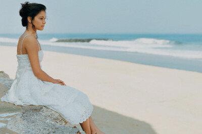 Vestidos y zapatos para una boda en la playa