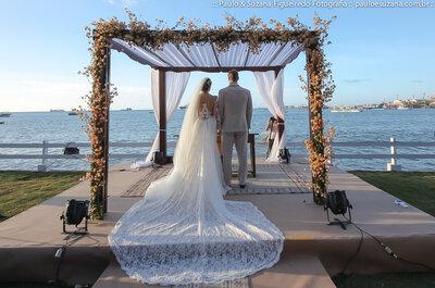 Juliana e Pavel: casamento ultra romântico ao pôr do sol em Fortaleza