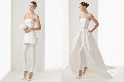 Tendencias: pantalones pitillo para novia de Rosa Clará