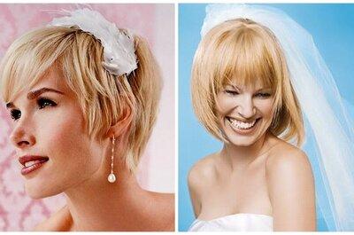 Peinados para novias con pelo corto 2013