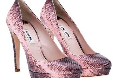 Tendencias 2013: zapatos de novia rosa