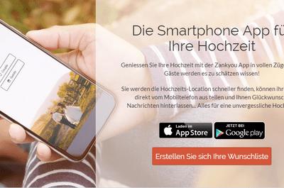 Die Zankyou App für Ihre Hochzeit: Kostenlose und mobile Hochzeitsplanung